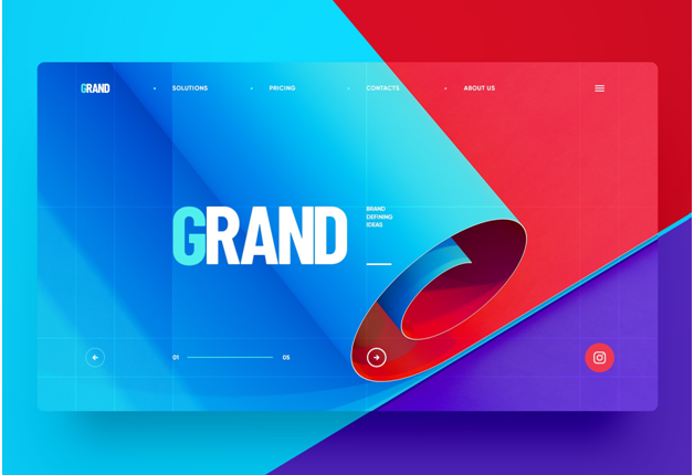 Luminous color stories web design trends