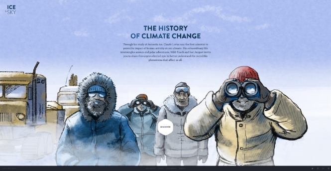 The History of Climate Change creative website layout