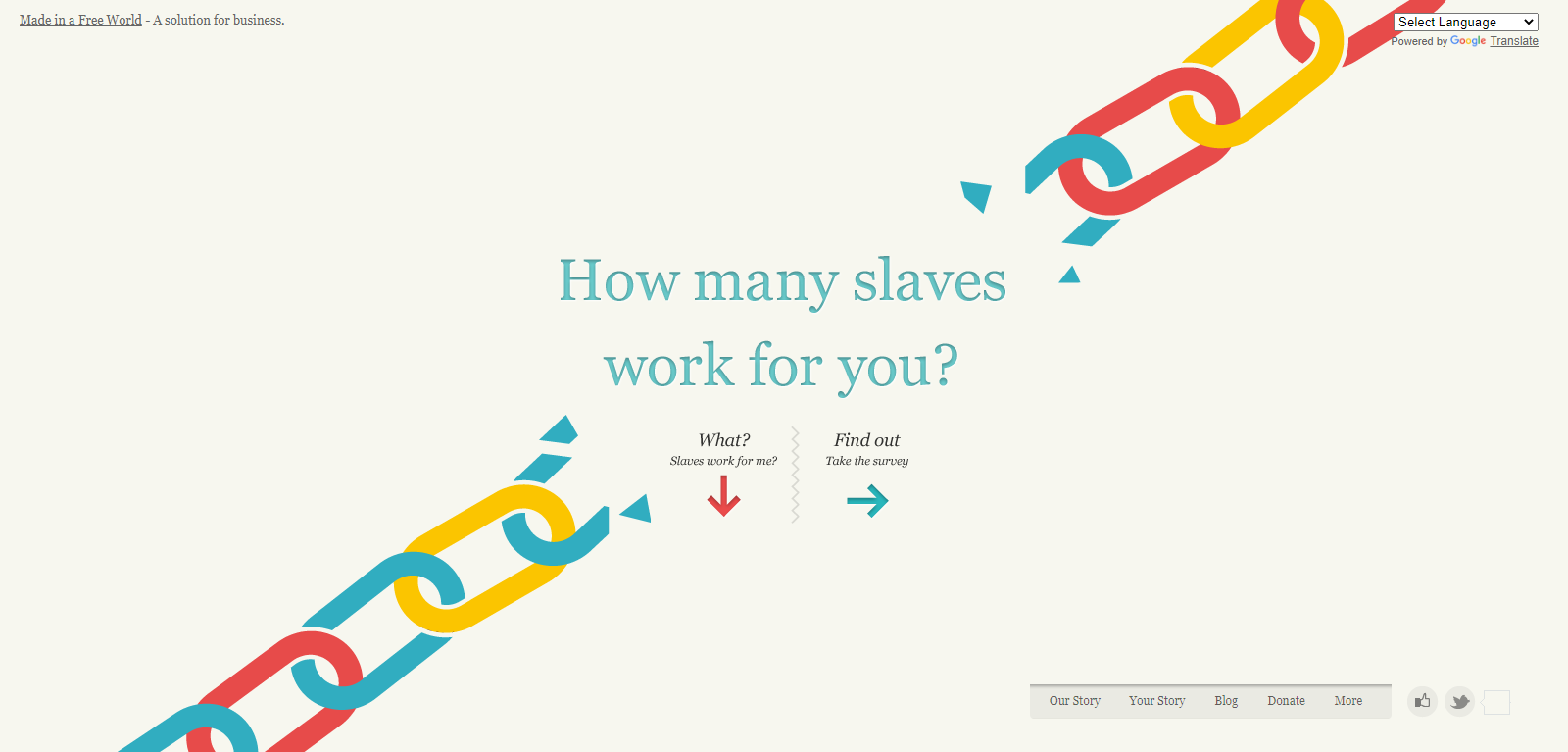 Slavery Foot Print web design ideas