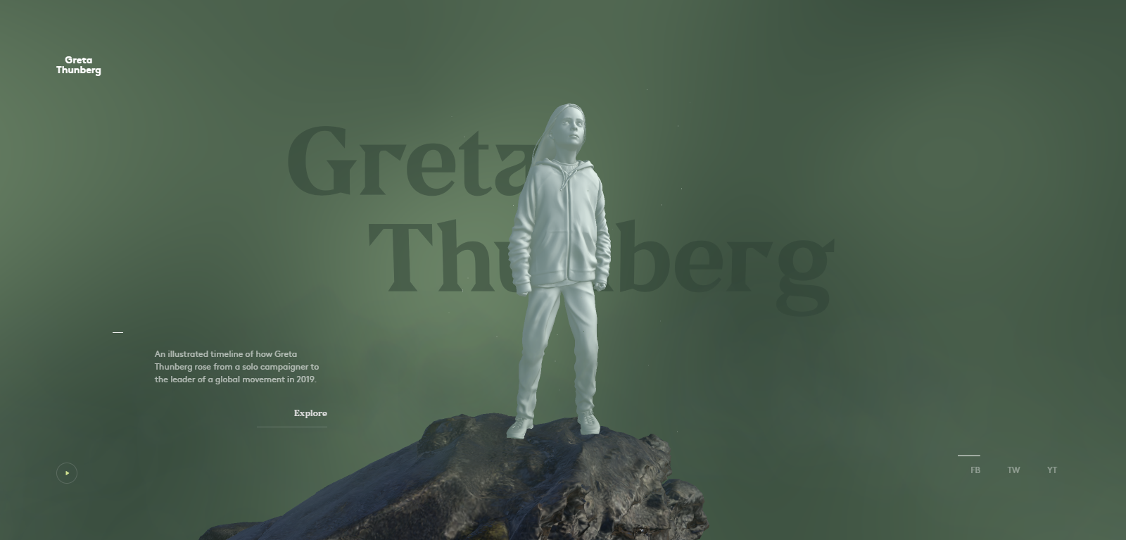 greta thunberg new creative website design